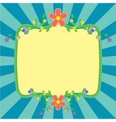 Flowers frame spring vector