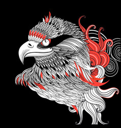 graphic beautiful portrait of an eagle vector image