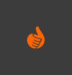 Hand thumbs up logo like fingers vector