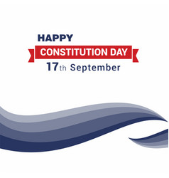 Happy constitution day design card vector