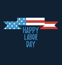 happy labor day banner and giftcard vector image