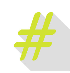 hashtag sign pear icon with flat vector image vector image