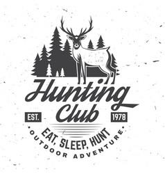 Hunting club eat sleep hunt concept vector