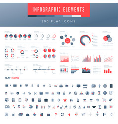 infographic elements set vector image