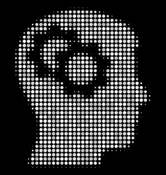 Intellect gears halftone icon vector