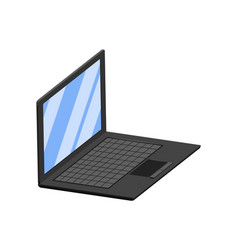 isolated 3d laptop vector image