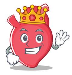 King heart character cartoon style vector