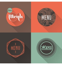 Labels for restaurant menu design vector image