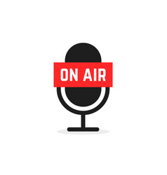 live on air like podcast icon vector image