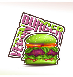 Logo for vegan burger vector