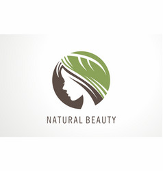 logo or symbol of beauty girl vector image