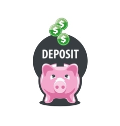 logo piggy bank vector image