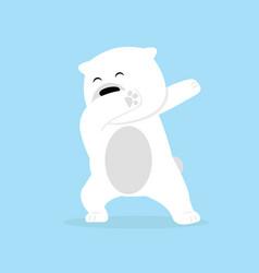 lonely polar bear dabbing movement vector image