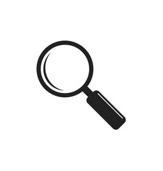 Loupe icon magnifier in flat style search sign vector