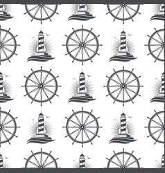 marine nautical seamless pattern design vector image