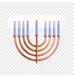 menorah icon cartoon style vector image