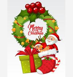 Merry christmas card template vector