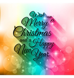 Merry Christmas Lettering Seasonal Background for vector image
