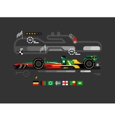 Motorsport formula one vector image