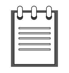 open wired notebook vector image