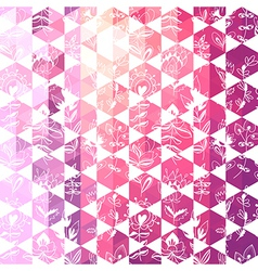 pattern geometric with triangle and hexagon vector image