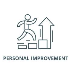 Personal improvement line icon linear vector
