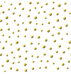 polka dot seamless pattern with gold foil spots vector image