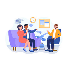 Psychotherapy counseling for family concept vector