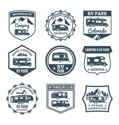 Recreational Vehicle Emblems vector