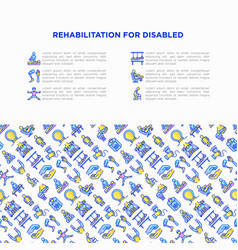 Rehabilitation for disabled concept with thin vector