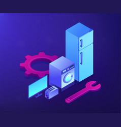 Repair household appliances concept vector