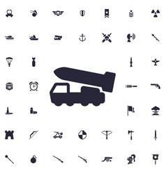 Rocket system icon vector