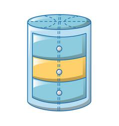 round bath stand icon cartoon style vector image