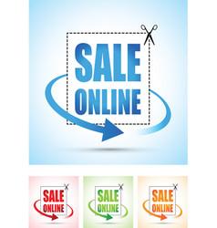 Sale online arrow sign vector