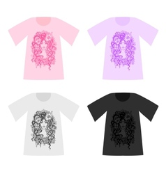 Set of beautiful patterned T-Shirts vector image