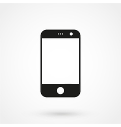 smartphone icon black on white background vector image