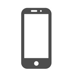 smartphone in iphone style black color with blank vector image
