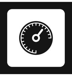 Speedometer measuring scale icon vector image