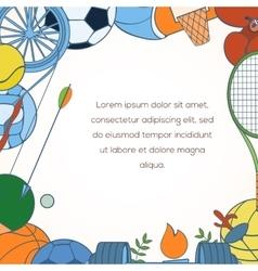 Sport invitation card vector