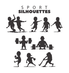 Sport silhouettes on white background vector