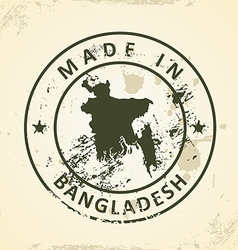 Stamp with map of Bangladesh vector image
