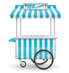 Street food cart ice cream vector