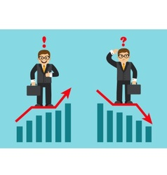 success and failure in business vector image