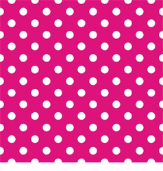 Tile pattern white polka dots pink background vector image