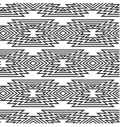 Trendy black and white seamless decorative ethnic vector