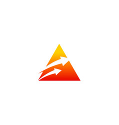 triangle arrow pyramid logo vector image