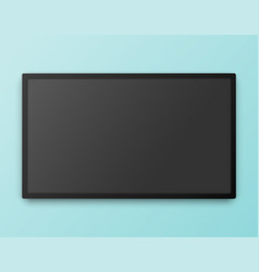Tv screen template with empty screen high vector