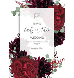 wedding invite invitation save date art card vector image