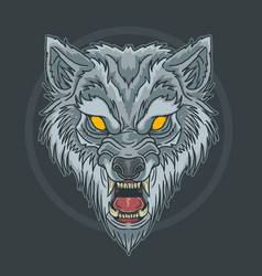 wild animal head vector image