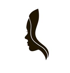 woman profile beauty vector image